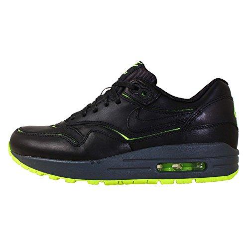 Nike Air Max 1 Ausschnitte Premium-Sneakers Schwarz / Volt / dunkelgrau / schwarz (10.5) Schwarz