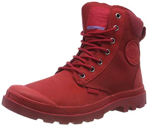 Palladium Unisex-Erwachsene Pampa Sport Cuff Wpn Klassische Stiefel, Rot (Rouge Chevron/Rio Red J81), 39 EU
