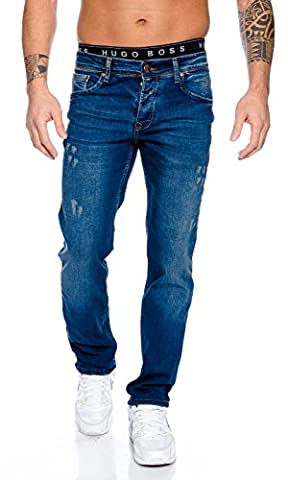 Rock Creek Herren Jeans Hose Blau RC-2098 [W32