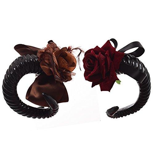 BLESSUME gotisch Lolita Schaf Hörner Stirnband Party Cosplay Kostüm Haar Zubehörteil