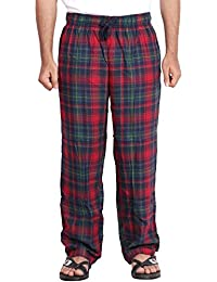 Twist Men's Marron And Black Checked 100% Cotton Pyjama Sleepwear Night Wear With Contrast & Free Shipping