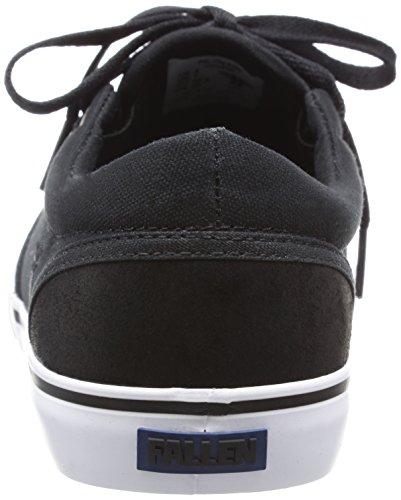 Fallen Mens The Easy Skateboard Shoe Black/White/Blue