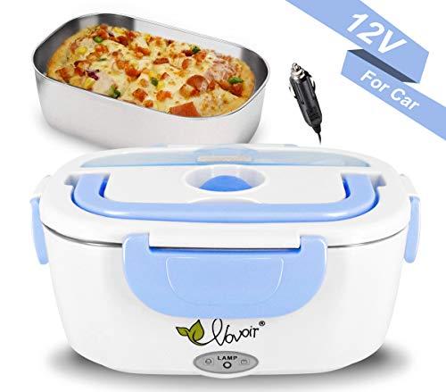 Fiambrera eléctrica comida térmico Lunch Box Fiambreras bento Uso en coche eléctrica con Bandeja...