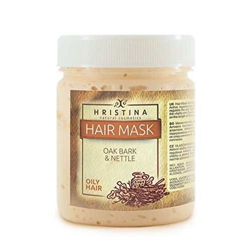 Huile de luxe 200 ml cheveux Masque Oak Bark & Nettle Produit 100% Naturel Cheveux avec écorce de chêne Jojoba & Neem Huile Gratuit Shampooing Dry Hair Control