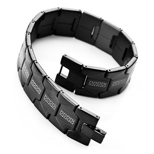 munkimix-acciaio-inossidabile-bracciale-braccialetto-collegamento-nero-greco-classico-uomo