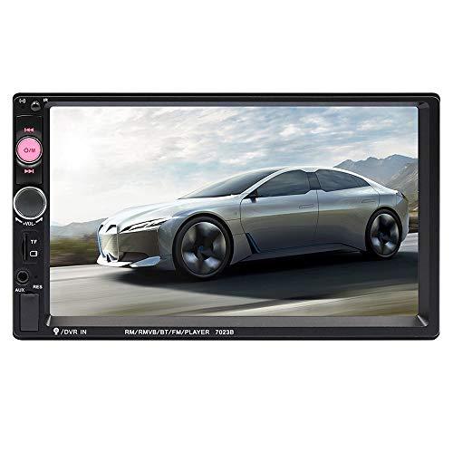 ZXZXZX 2 Doppel-Din-Auto-Stereo-Audio-Bluetooth-Touch-MP5-Player USB-FM-Telefon Android-Spiegel-Link-Unterhaltung Multimedia-Radio + 4 LED-Mini-Backup-Kamera Mini Backup