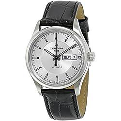 Certina C022.430.16.031.00 - Reloj para hombres, correa de cuero color negro