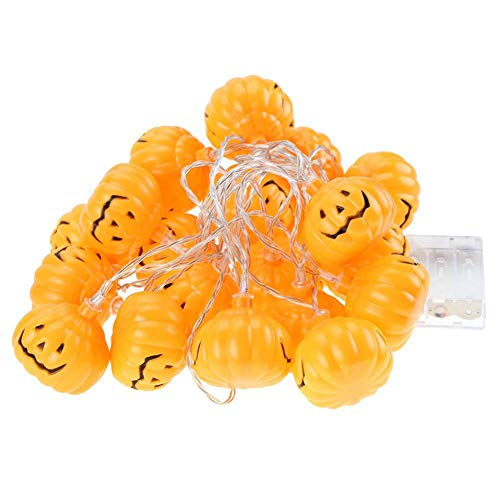DDI Halloween Kürbis Lichterketten LED Smiley Lichterketten Weihnachtsdekoration Lichter 10 M 80 Lichter-2m20lights