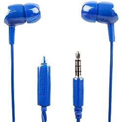 DURAGADGET de qualité premium Écouteurs intra-auriculaires en bleu avec micro pour le Asus Zenbook Ux330ua-ah54| Asus Zenbook Ux330ua-ah55