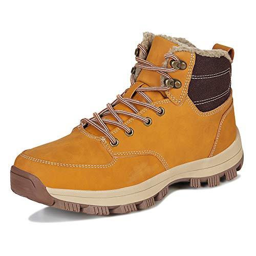 Winter Snow Boots Mens Hiking Footwear Waterproof Boots Warm Plush Walking Trekking Cosy Lace Up Boot Anti Slip