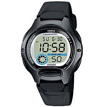 CASIO 19131 LW-200-1BV - Reloj Infantil Unisex correa caucho negra