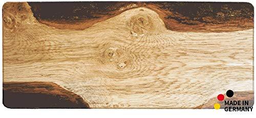 matches21 Küchenläufer Teppichläufer Teppich Läufer Motiv Holz Holzoptik Rinde Brett 50x120x0,4 cm maschinenwaschbar - Läufer Teppich Holz