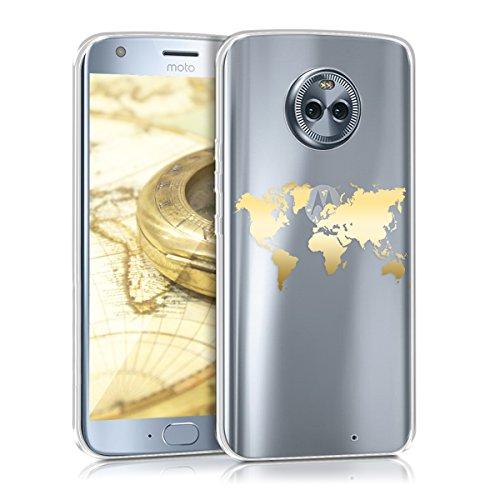 kwmobile Motorola Moto X4 Hülle - Handyhülle für Motorola Moto X4 - Handy Case in Gold Transparent
