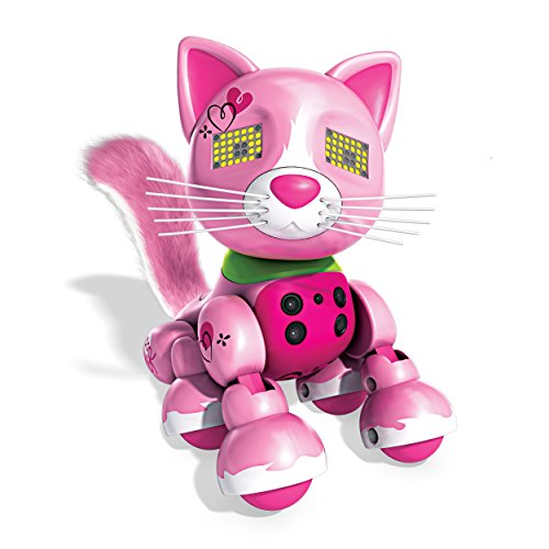 Zoomer Meowzies Viola Robotick Cat - Robots de Entretenimiento (AAA, USB, Window Box)