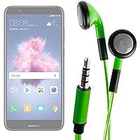 DURAGADGET Auriculares In-Ear con Luz LED Verde para Smartphone Huawei P Smart - ¡