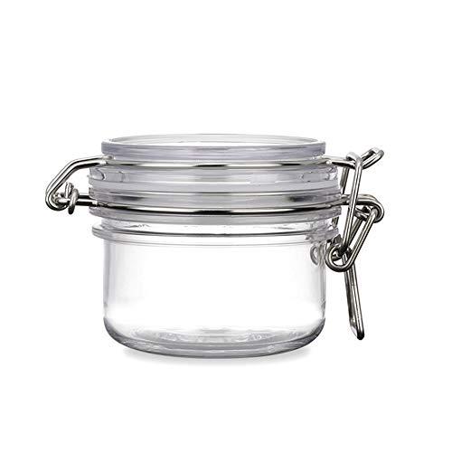 Round-freie kosmetische Flasche Gläser verdicken PET Kunststoff Verschluss Deckel Kosmetik Make-up Gesichtskörper-Masken-Speicher hermetische Behälter Jars Pot mit Locking Cannister Lids 120ml 2Pcs
