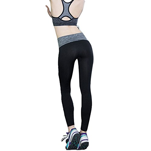 Actifs Pantalons Running Workout Yoga Collants Femmes Grey