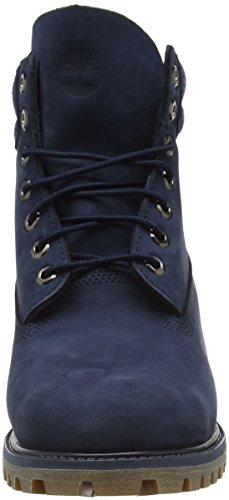 Timberland 6 In Double Collar  Men   s Ankle Boots  Blue  Black Iris Waterbuck   6 5 UK  40 EU