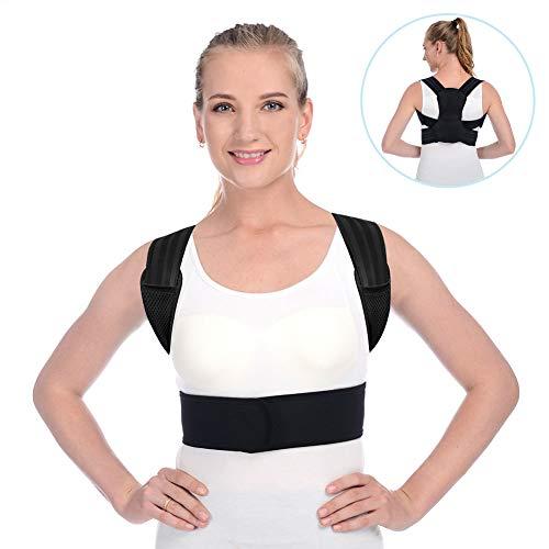 ANOOPSYCHE Haltungskorrektur Geradehalter zur Haltungskorrektur Rückenstütze Rückenbandage Haltungstrainer Rücken Damen und Herren-Größenverstellbar M (70CM-100CM)
