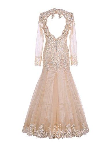 Find Dress Longue Robe de Mariée Hiver Princesse Femme Paillette Robe de Cocktail Soirée Manche Longue Robe Demoiselle d'Honneur Femme Grande Taille en Tulle avec Dentelle Bleu