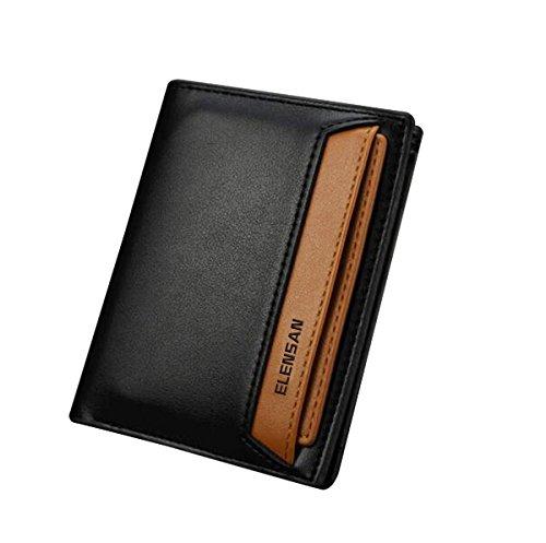 Elensan ,  Herren-Geldbörse schwarz schwarz (Leder Herren Traveler Case)