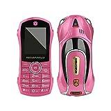 Fulltime E-Gadget Autotelefon, F1 + Kinder Sportwagen Handy Student Kleine BT MP3 Systemspeicher32M + 32M Handy (Rosa)