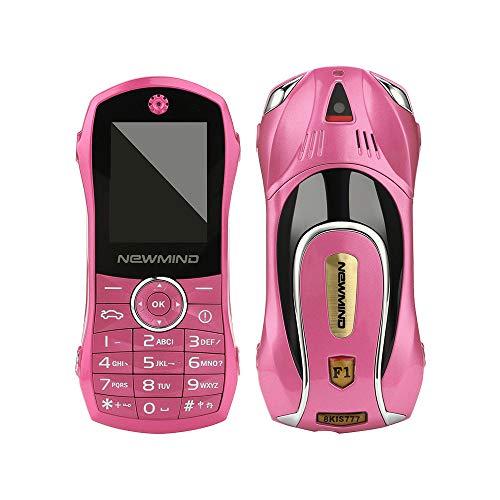 Autotelefon, F1 + Kinder Sportwagen Handy Student Kleine BT MP3 Systemspeicher32M + 32M Handy (Rosa)