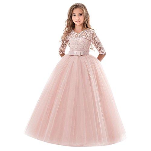 Uomogo royal costumi bambina principessa vestito carnevale lunga manica tulle diadema cosplay festa nuziale compleanno carnevale abito per ragazze 5-10 anni, 130-170 cm
