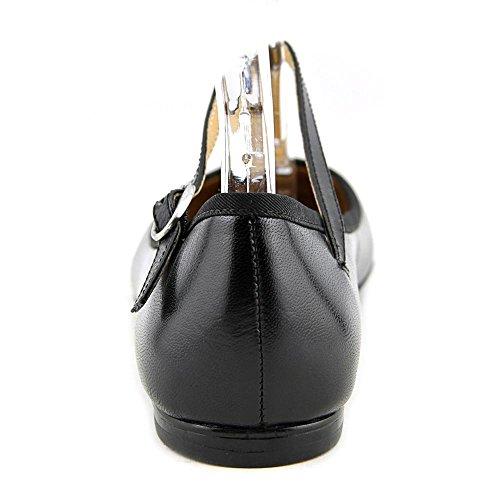 Nine West 70Klin Cuir Chaussure Plate Blk-Blk Le