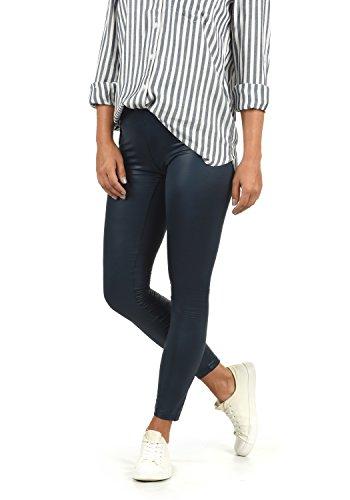 VERO MODA Paris Damen Leggings Hose Kunstleder Mit Stretchanteil Skinny Fit, Größe:M, Farbe:Navy Blazer Leder Animal-print