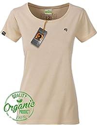 BRIGADEER Jan 8007 Damen Bio Baumwolle Basic Girlie T-Shirt Frauen Beige  Natural Stone Women s 5aa4ba0afd