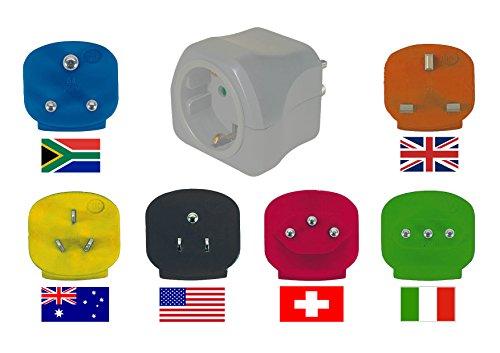Mutec Power Universal Weltreisestecker mit 6 Adapter Reiseplug