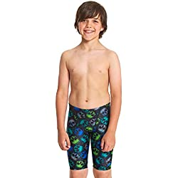 Zoggs Boys' Eco Fabric Jett Jammer Swim Shorts, Multi-Coloured, 8-9 years