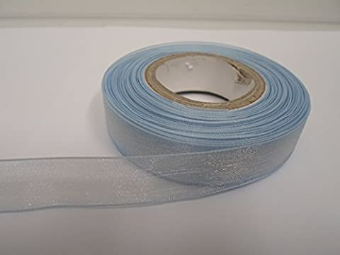 1 Roll of 15mm x 25 metres, Baby light blue,