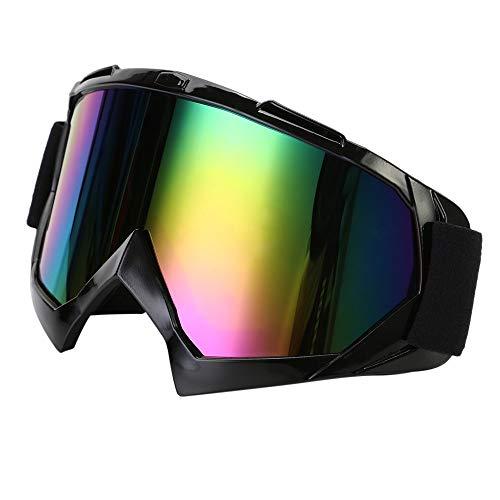 TKOOFN Occhiali per Motocross Materiali PC+TPU, Lenti Trasparenti/Colorati + Montatura di Vari Colo