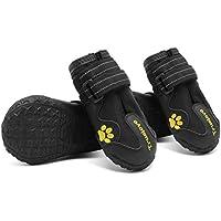 MOKCCI Truelove - Botas impermeables para perro con las mejores correas reflectantes, para perros pequeños, medianos y grandes