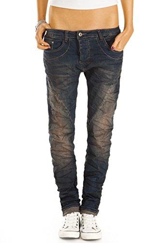 Bestyledberlin Damen Boyfriend Jeans, Baggyjeans, Loose Fit Stretch Hosen j42f 34