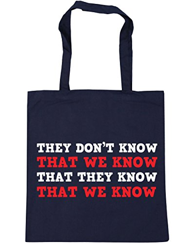 Click for larger image of HippoWarehouse They don't know that we knowthat they know that we know Tote Shopping Gym Beach Bag 42cm x38cm, 10 litres