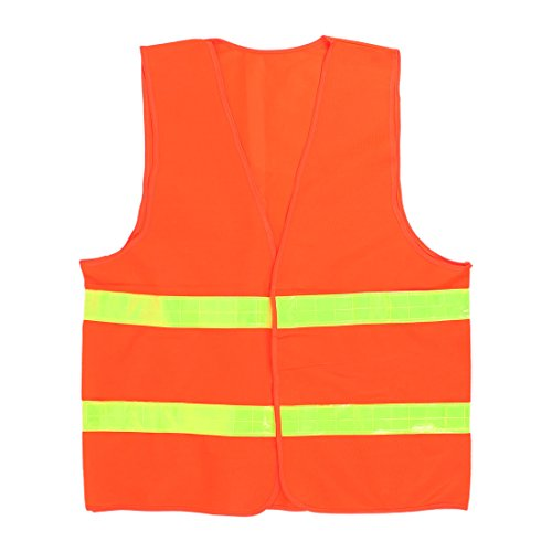Orange Nylon rot High Visibility Sicherheit Weste mit reflektierenden Streifen DE de (Nylon Sicherheits-weste)