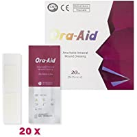 Ora-Aid 202 - Intraoral-Pflaster, 20 Streifen mit je 2 x 25 mm x 15 mm (41001-R) preisvergleich bei billige-tabletten.eu