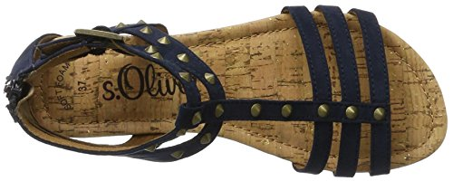 s.Oliver Damen 28114 T-Spange Blau (NAVY 805)