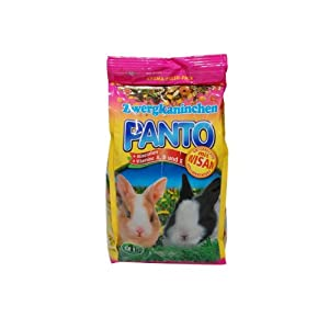 German Panto Dwarf Rabbit Food With Minerals Vitamins A D And E - 1 X 1000 G from Hamburger Leistungsfutter