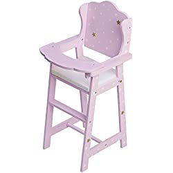 Olivia's Little World Silla Alta para muñeca, Color Oro Rosado (Teamson TD-0098AP)