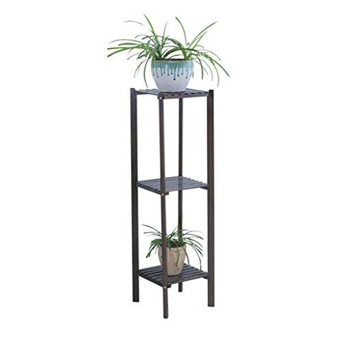 Porte-fleurs à balcons à plusieurs étages étagères pour plantes au sol étagères de rangement extérieures noir ( Size : 27X27X100CM )