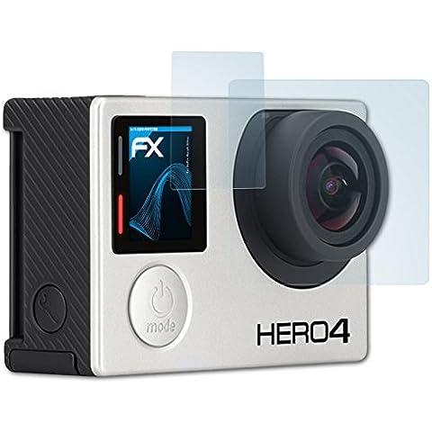 atFoliX Displayschutzfolie GoPro Hero4 Silver Schutzfolie - 3er Set - FX-Clear kristallklar