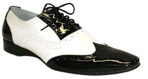 chaussures-hommes-vernis-bicolore-noir-et-blanc-taille-44