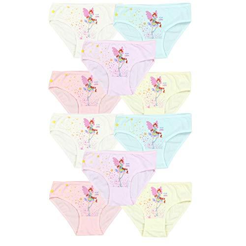 TupTam Mädchen Slips mit Aufdruck 10er Pack, Farbe: Farbenmix 8, Größe: 104-110