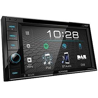 Kenwood DDX4019DAB DAB+ Multimedia-Autoradio mit 15,7 cm Touchscreen (2-DIN, DVD, Bluetooth Freisprecheinrichtung, Soundprozessor, USB, Spotify Control) Schwarz