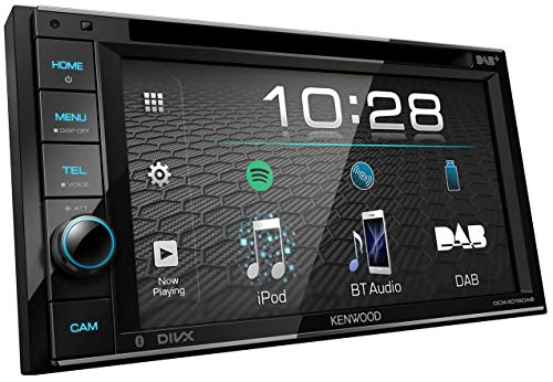 Kenwood DDX4019DAB DAB+ Multimedia-Autoradio mit 15,7 cm Touchscreen (2-DIN, DVD, Bluetooth Freisprecheinrichtung, Soundprozessor, USB, Spotify Control) Schwarz