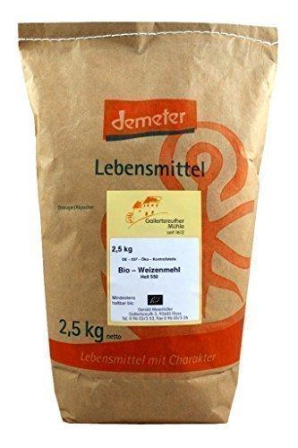 Bio Weizenmehl hell 3x2,5 kg - Demeter Bio Weizenmehl Type 550 hell